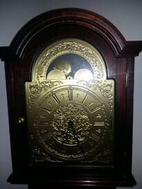Clock longcase Hermle mahogany