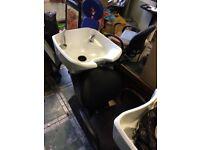 Pair of backwash sinks for hair salon