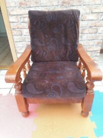 wooden frame armchairs
