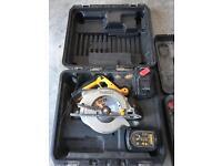 Dewalt 24v circular saw and sds drill