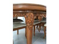 Solid Teak Dining Table and 8 chair set