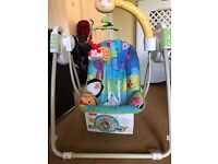 New Fisher-Price Open- Top, Take-Along Swing