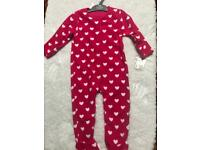 Girls mothercare sleepsuit