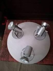 Chrome light fittings
