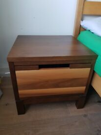 2x Bedside Tables - Solid Wood