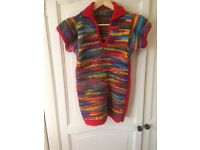 Hand knitted super cosy n bright top.