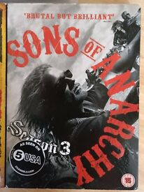 Sons of Anarchy DVD box sets - Complete Series 1,2 & 3