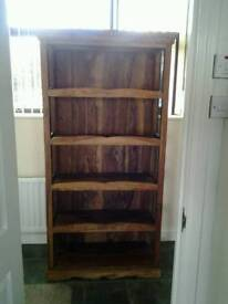 Hardwood display / bookcase