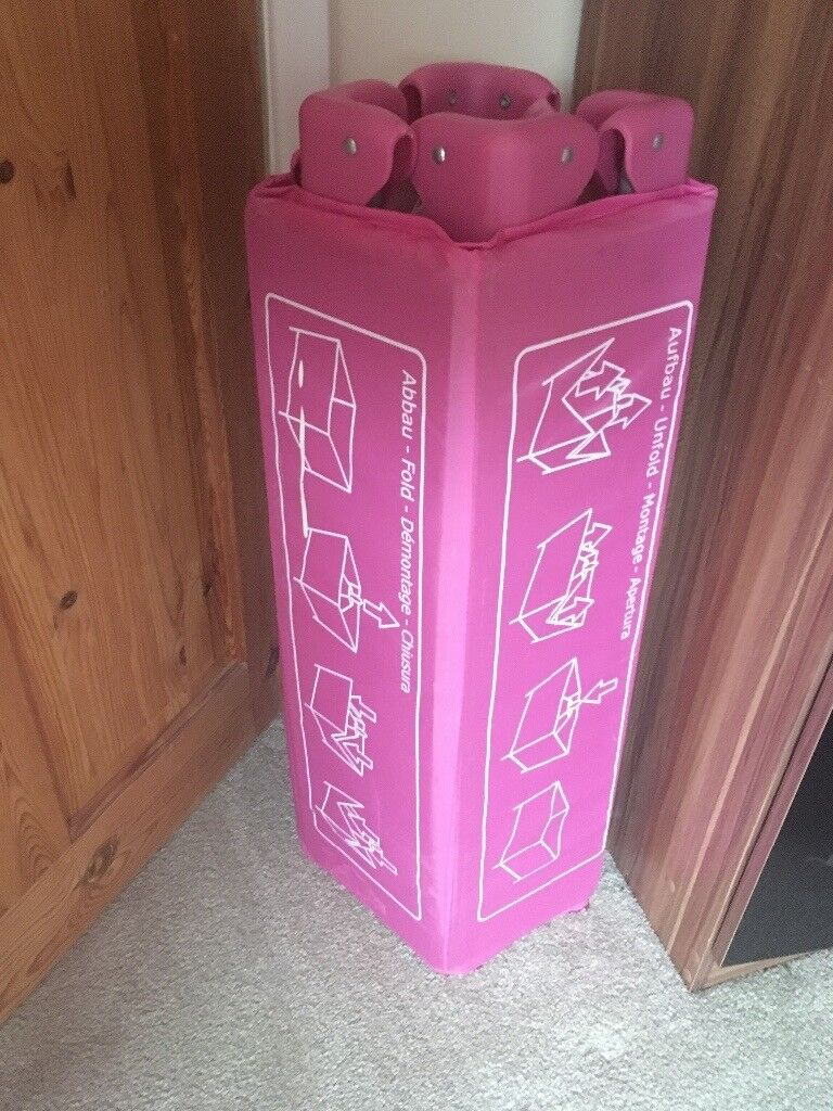 Pink hauck travel cot
