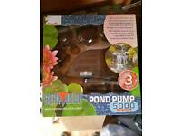 New pond pump