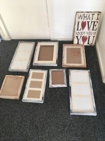 A collection of photo frames
