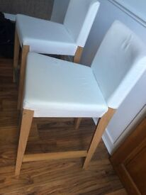 Ikea oak breakfast bar stool/chair with backrest