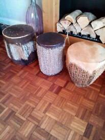Bongo drums African 3 of various