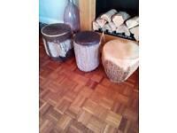 Bongo drums African 3 of various