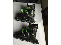 No Fear In line Skates adjustable size 5 6 7