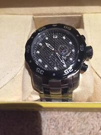 Invicta Pro Diver Scuba stainless Steel Black CF Chrono 48mm Mens Watch