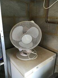 Large white fan.