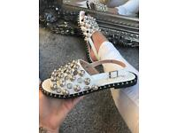 BNIB white stud sandals sizes 3-8