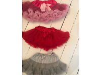 3 BEAUTIFUL GIRLS TULLE RARA SKIRTS. AGED 4/5/6 LOVELY Cost around £80. Brentwood collect £10!