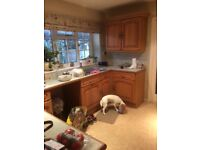 Solid kitchen units. Good condition and lots of them! Buyer to dismantle