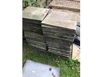 Paving slabs (48) buff
