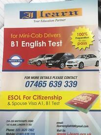 Curs English Test B1 pentru Mini-Cab Drivers