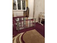 Excellent condition glass TV stand bought for £70 selling for £30