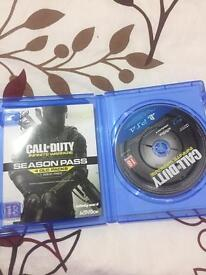 Like New, PS4 Call of Duty Infinity Warfare with a SEASON PASS. Can SWAP as well