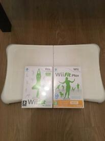 Wii balance board with Wii fit and Wii fit plus