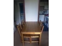 Ikea table and 4 chairs JOKKMOKK