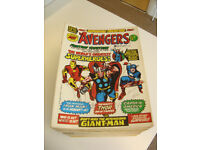 British MARVEL 'THE AVENGERS' comics 1st issue to no. 109 complete and in RARE GREAT condition