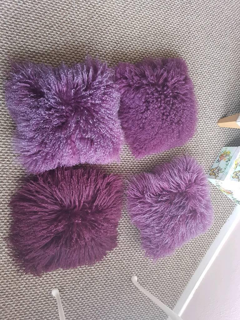 4 lovely fluffy cushions