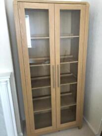 Cabinet with glass front doors