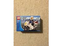 Lego police motorcycle and policeman