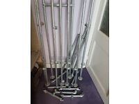 Steel tube, clamps, perfect for trendy furniture unit - scaffolding 26.9mm