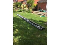 2 section aluminum ladder