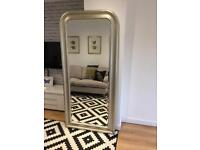 Stunning Full Length Mirror with Silver Pewter Frame