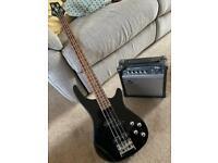 Bass Guitar and Amp