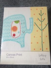 Elephant Canvas 20x20 brand new