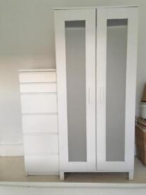 Two Door white IKEA Aneboda wardrobe