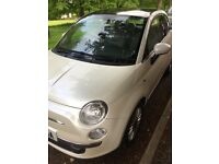 Pearlescent White, pan-roof Fiat 500