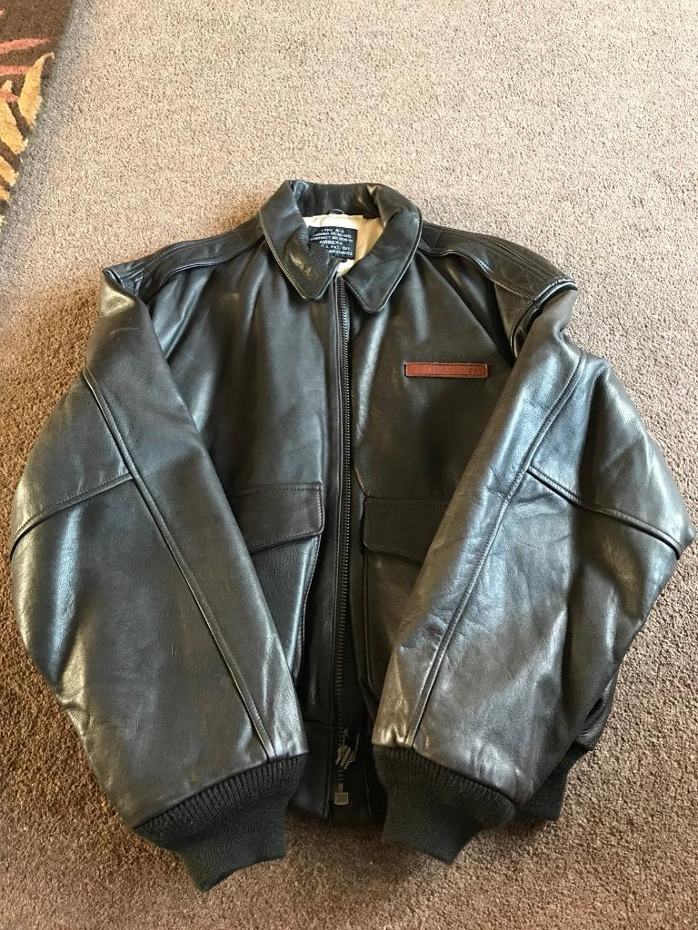 Genuine Avirex Type A-2 Air Force Leather Flight Jacket
