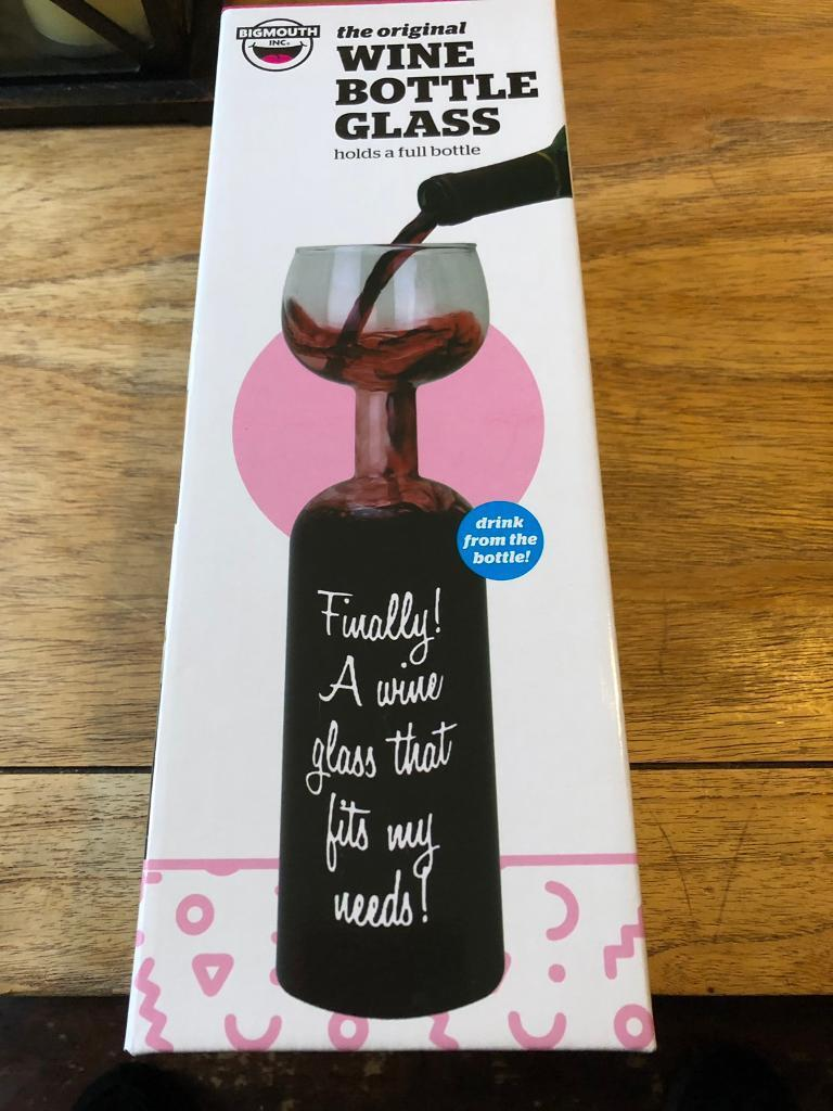Secret Santastocking Present Bigmouth Ultimate Wine Bottle Glass