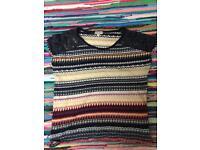 Indigo multicolour pattern top size small