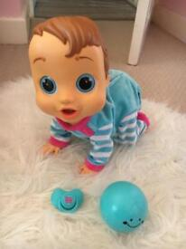 Baby WOW Charlie Crawling Dancing Doll with ball and dummy Xmas