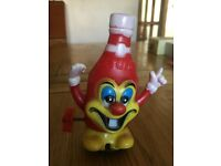 rare marx wind up ketchup bottle toy 1970