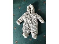 Mothercare baby snowsuit