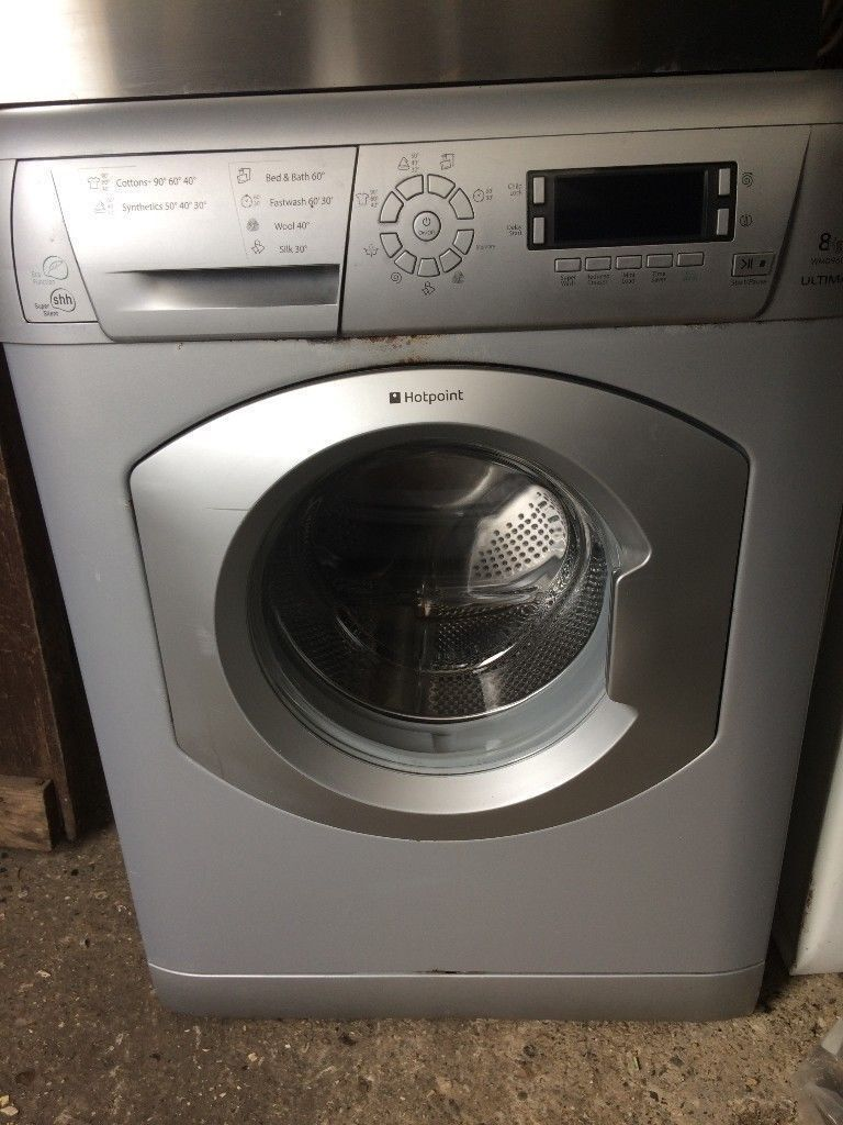 Hotpoint 8 KG Washing Machine - Silver - Model: WMD960 - Fully working - No