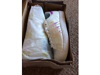 Female Adidas superstars , new in box , size 6.5