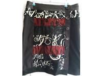 Red/Black skirt knee length